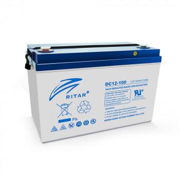 Аккумуляторная батарея глубокого разряда AGM RITAR DC12-100, Gray Case, 12V...