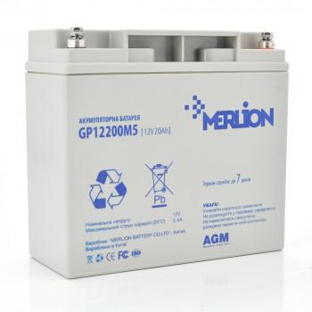 Аккумуляторная батарея MERLION AGM GP1220M5 12 V 20 Ah