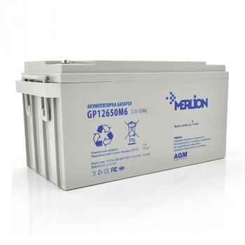 Аккумуляторная батарея MERLION AGM GP12650M6 12 V 65 Ah  White / Black