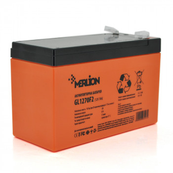 Аккумуляторная батарея MERLION GL1270F2 12 V 7Ah  Orange