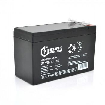 Аккумуляторная батарея EUROPOWER AGM EP12-7.2F2 12 V 7,2 Ah Black