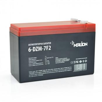 Тяговая аккумуляторная батарея AGM MERLION 6-DZM-7, 12V 7Ah F2