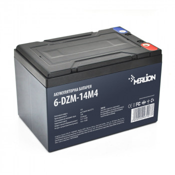 Тяговая аккумуляторная батарея AGM MERLION 6-DZM-14, 12V 14Ah M4