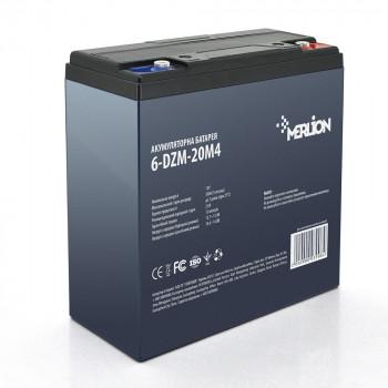 Тяговая аккумуляторная батарея AGM MERLION 6-DZM-20, 12V 20Ah M4