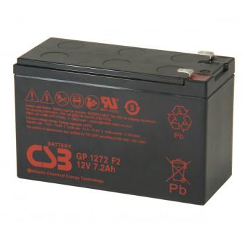 Аккумуляторная батарея CSB GP1272F2, 12V 7,2Ah (28W)
