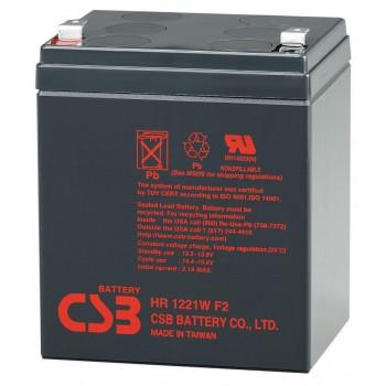 Аккумуляторная батарея CSB HR1221WF2, 12V 5Ah