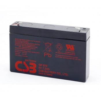 Аккумуляторная батарея CSB GP672, 6V 7.2Ah