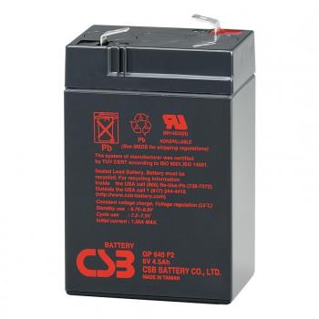 Аккумуляторная батарея CSB GP645, 6V 4.5Ah
