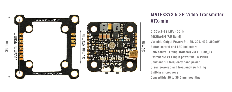 Matek VTX-Mini