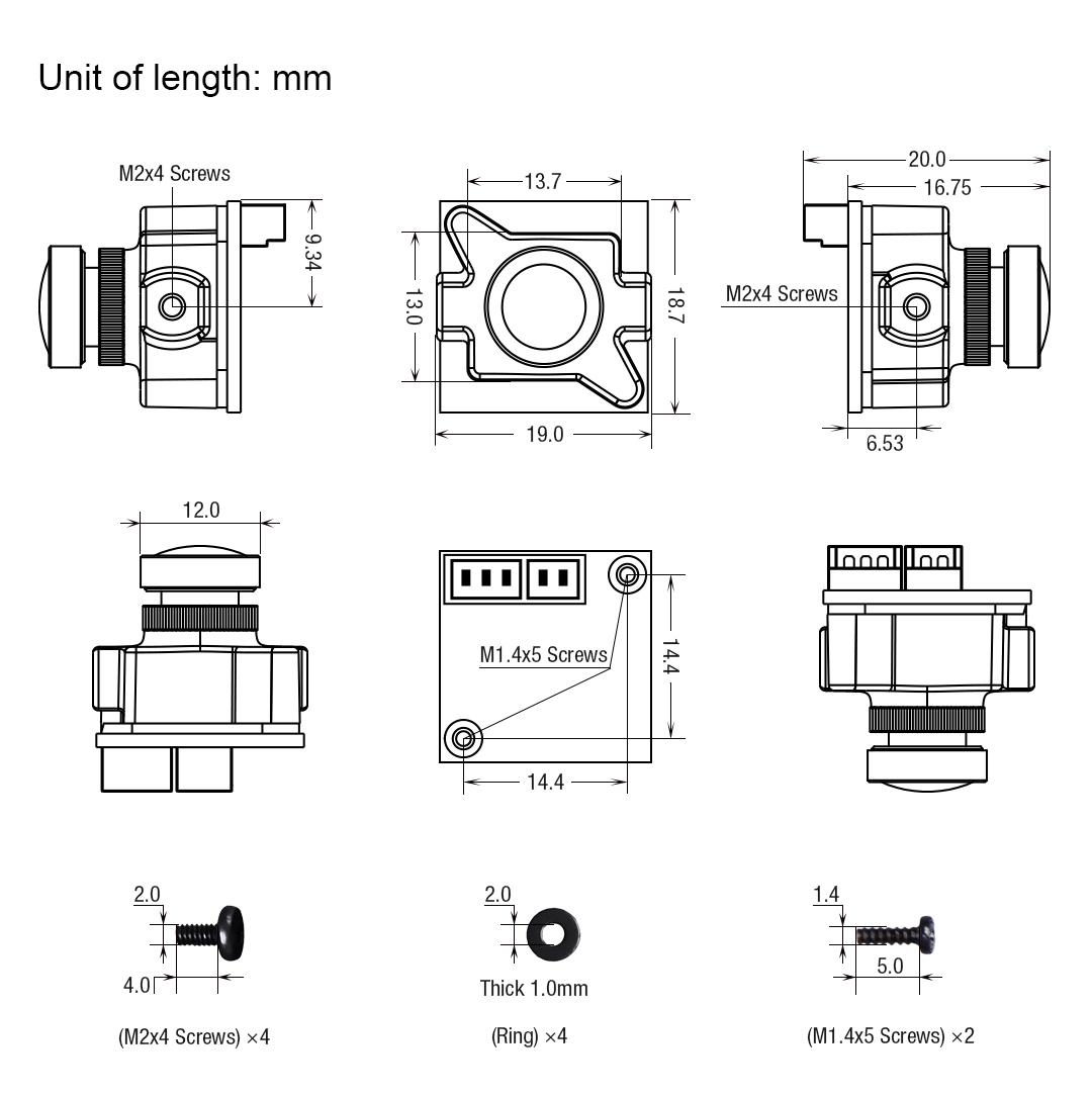 Foxeer Micro размеры